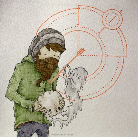 clint reid - tillman project - pen watercolor - desafio criativo (3)